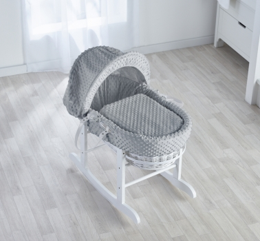 Dimple Grey, White Wicker