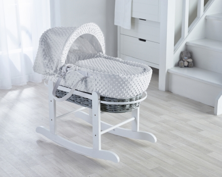 Dimple White, Grey Wicker