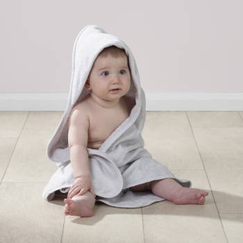 Hooded Towel and Wash Mitt Grey