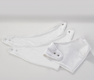 3 Pack Dribble Bibs White