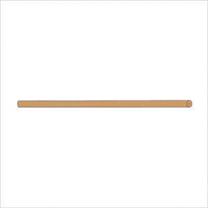 Folding Stand Long Dowel Natural