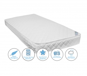 Pocket Sprung Cot Bed/Toddler Bed Mattress